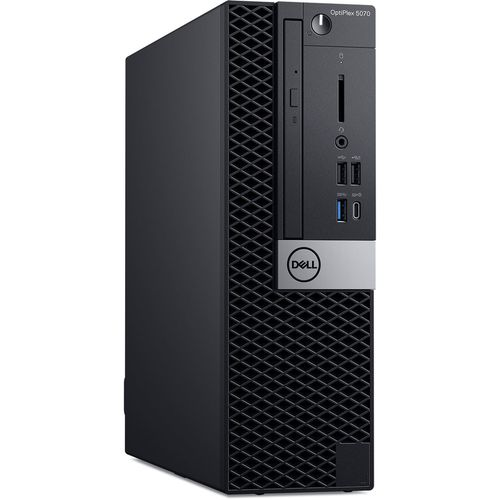 купить DELL OptiPlex 5070 SFF (lnteI® Core® i7-9700, 8GB DDR4 RAM, 256GB SSD, DVD-RW, lnteI® UHD630 Graphics, TPM, 260W PSU, USB mouse and KB MS116, Ubuntu, Black) в Кишинёве