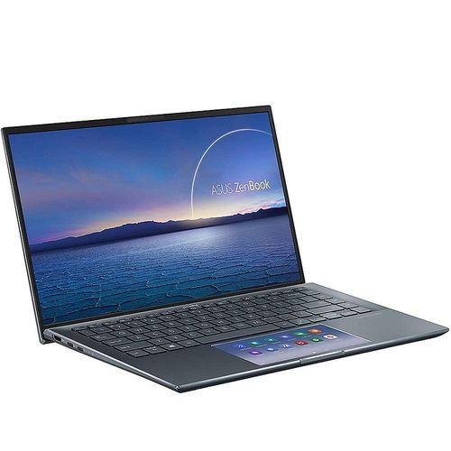 """купить Ноутбук 14"""" ASUS ZenBook 14 UX435EA Pine Grey, Intel i7-1165G7 2.8-4.7Ghz/16GB/SSD 1TB M.2 NVMe/Intel Iris Xe Graphics/WiFi 6 802.11ax/BT5.0/HDMI/HD WebCam/Illum. Keyb./ScreenPad 5.65""""/14"""" IPS LED Backlit FullHD NanoEdge (1920x1080)/Windows10 UX435EA-A5049T в Кишинёве"""