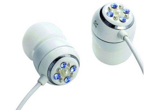 "купить E11005 ELECOM ORB ""Gem Drops"" Jewel Type Stereo Headphones - (White, Aquamarine blue), 20 Hz to 20 kHz, 32 Ohm, 115 dB/1 mW (mini casti/мини наушники) в Кишинёве"