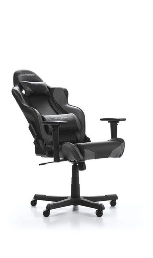 купить Gaming Chairs DXRacer - Racing GC-R001-NG-W1, Black/Black/OBlack - PU leather, Gamer weight up to 100kg / growth 165-195cm, Foam Density 50kg/m3, 5-star Nylon Base, Gas Lift 4 Class, Recline 90*-135*, Armrests: 3D, Pillow-2, Caster-2*PU, W-23kg в Кишинёве