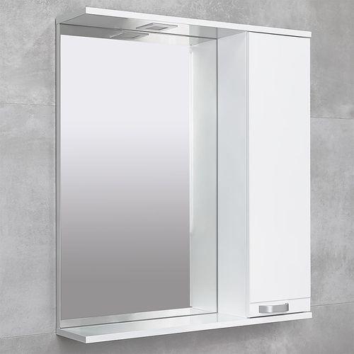 купить Rivera Шкаф-зеркало белый 750 R в Кишинёве