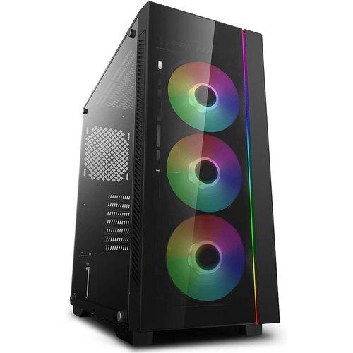 купить Case Middletower Deepcool MATREXX 55 V3 ADD-RGB ATX Black no PSU, Side & Front panel Tempered glass, RGB lighting strip in the front, 1xUSB3.0/2xUSB2.0/AudioHD x 1/Mic x 1 (carcasa/корпус) в Кишинёве