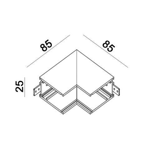 купить Соединитель накладной внутренний IN_LINE CORNER S IN 06.S90IN.BK в Кишинёве