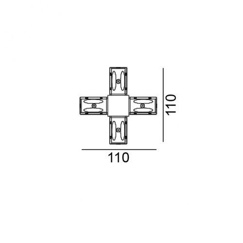 купить Соединитель электрический IN_LINE CORNER X 06.SEQHR.BK в Кишинёве