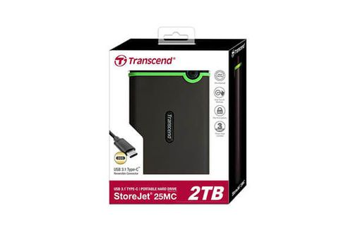 "купить 2.5"" External HDD 2.0TB (USB3.0/Type-C), Transcend StoreJet 25MC, Iron Gray, MIL-STD-810G 516.6., Durable anti-shock RUBBER outer case,  Advanced internal hard drive suspension system, One Touch Backup, Quick Reconnect Button в Кишинёве"