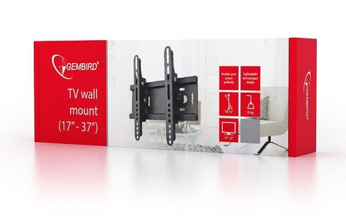 "cumpără TV-Wall Mount for 17-37""- Gembird ""WM-37T-01"", Tilting, max. 25 kg, Tilting angle 15°, Distance TV to Wall: 50 mm, max. VESA 200 x 200, Black în Chișinău"
