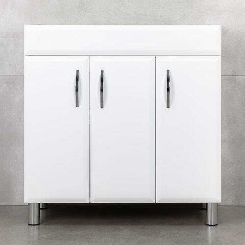 купить Diamis Шкаф белый хром с умывальником Atria 850 в Кишинёве
