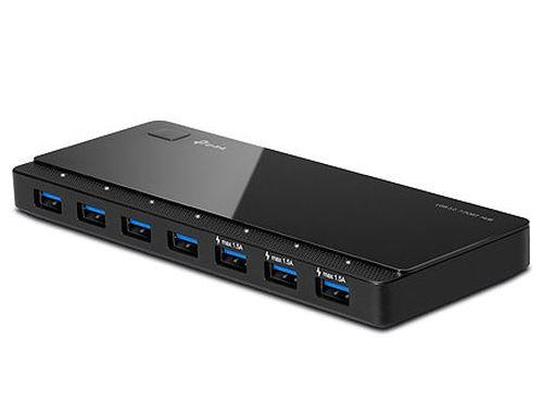 купить TP-Link UH700 USB Hub 7 ports, USB 3.0 external power adapter, Black в Кишинёве