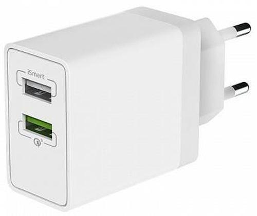 купить Зарядное устройство сетевое Partner 38465 Olmio 2USB, QC3.0+Smart IC, 30W в Кишинёве