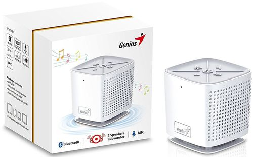 купить Колонка портативная Bluetooth Genius SP-920BT, White в Кишинёве
