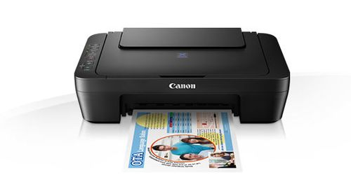 cumpără MFD Canon Pixma E474 Black, Colour Printer/Scanner/Copier/Wi-Fi, A4, Print 4800x600dpi_2pl, Scan 600x1200dpi, ESAT 8.0/4.0 ipm, 64-275г/м2, Cassette: 60 sheets, USB 2.0, 2 x  Ink Cartridge PG-46 (400p), CL-56 (300p)_Optional PG-46XL, CL-56XL în Chișinău