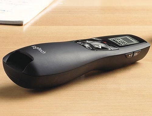 купить Logitech R700 Black Laser Presentation Remote 2.4 GHz wireless, Up to 30-meter range, Battery indicator, Red laser pointer, LCD display, 910-003506 в Кишинёве