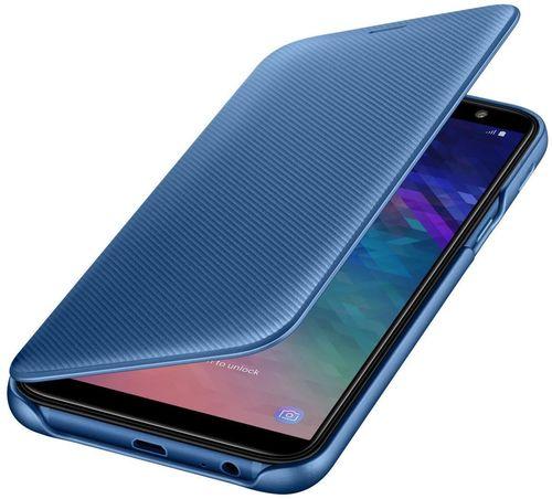 купить Чехол для моб.устройства Samsung EF-WA600, Galaxy A6, Flip Cover, Blue в Кишинёве