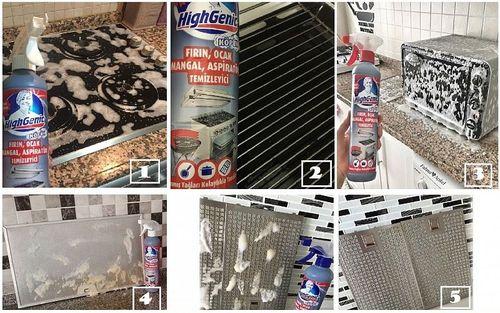 cumpără Spuma activa pentru curatarea cuptorului si gratarului FIRIN, OCAK, MANGAL TEMIZEYICI HighGenic 500 ml în Chișinău