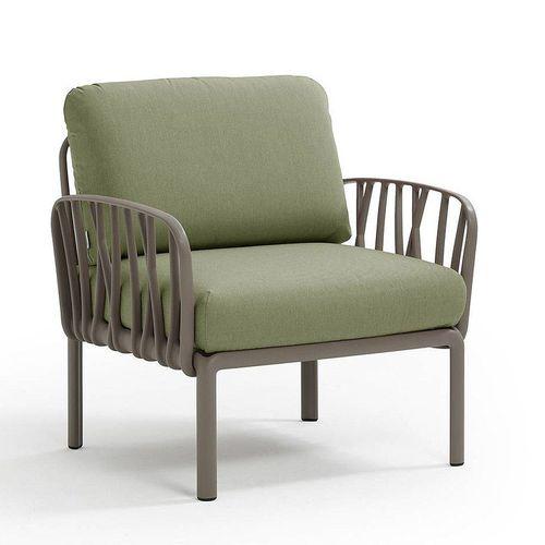 купить Кресло с подушками для сада и терас Nardi KOMODO POLTRONA TORTORA-giungla Sunbrella 40371.10.140 в Кишинёве