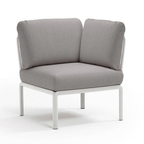 купить Кресло модуль угловой с подушками Nardi KOMODO ELEMENTO ANGOLO BIANCO-grigio 40374.00.163 в Кишинёве