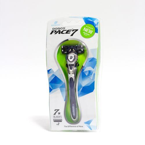 купить Бритвенная система c 7 лезвиями - Dorco Pace7 (Ручка + 2 кассеты) в Кишинёве