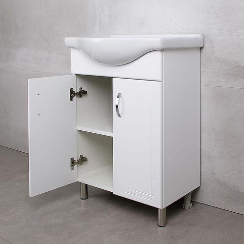 купить Verso Шкаф белый хром под умывальник Seliger 600 в Кишинёве