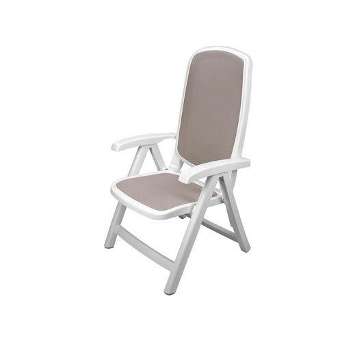 купить Кресло складное Nardi DELTA BIANCO tortora 40310.00.124 (Кресло складное для сада и террасы) в Кишинёве