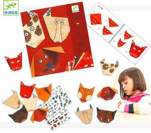 """cumpără Origami cu stickere """"Animale de hârtie"""" DJECO în Chișinău"""