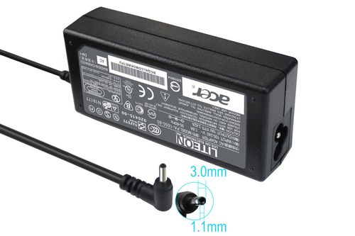 купить AC Adapter Charger For Acer 19V-3.42A (65W) Round DC Jack 3.0*1.0mm Original в Кишинёве
