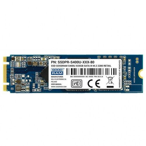 купить M.2 SATA SSD 480GB  GOODRAM S400U, Interface: SATA 6Gb/s, M.2 Type 2280 form factor, Sequential Reads: 550 MB/s, Sequential Writes: 530 MB/s, Controller Phison S11, NAND TLC, Retail в Кишинёве