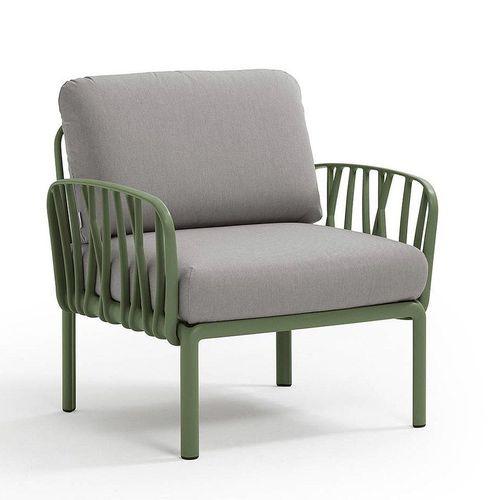 купить Кресло с подушками для сада и терас Nardi KOMODO POLTRONA AGAVE-grigio 40371.16.163 в Кишинёве