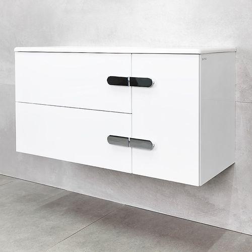 купить Suprem Шкаф белый про с умывальником Amanda 1000 в Кишинёве