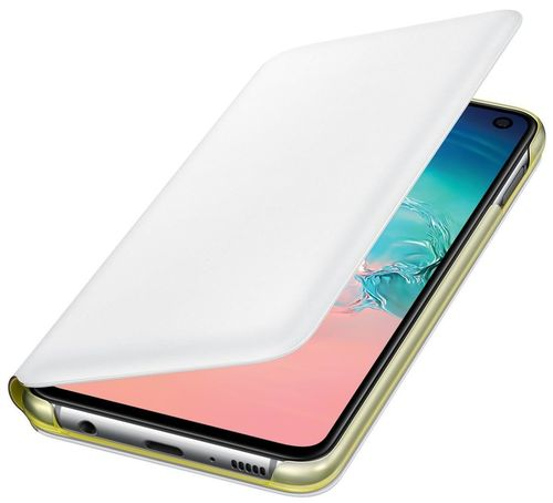 купить Чехол для моб.устройства Samsung EF-NG970 LED View Cover S10e White в Кишинёве