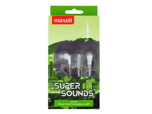 """cumpără MAXELL """"SUPER SOUND"""" Grey, Earphones with in-line Microphone, Hands free calling features, 3 sets of ear tips, Flat cable, Cord type cable 1.2 m în Chișinău"""