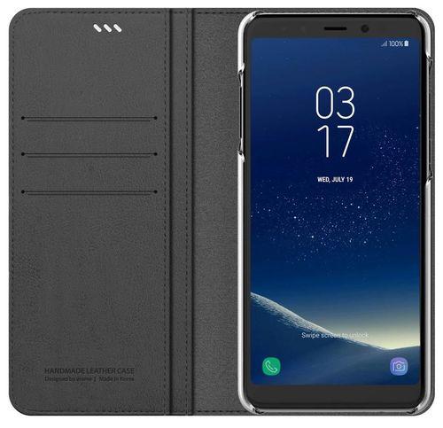 купить Чехол для смартфона Samsung GP-A530, Galaxy A8 2018, Araree Mustang Diary, Gray в Кишинёве