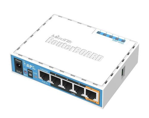 купить MikroTik RouterBOARD hAP ac lite,  Dual Band Wireless Router, 2.4GHz Dual + 5GHz, AP/Bridge/Station/WDS, 802.11b/g/n/ac, 1 WAN+4 LAN, USB port for 3G/4G modem, 2xinternal antennas, Wireless chip QCA9887 650MHz, RAM64MB, PoEin, PoEout, RouterOS в Кишинёве