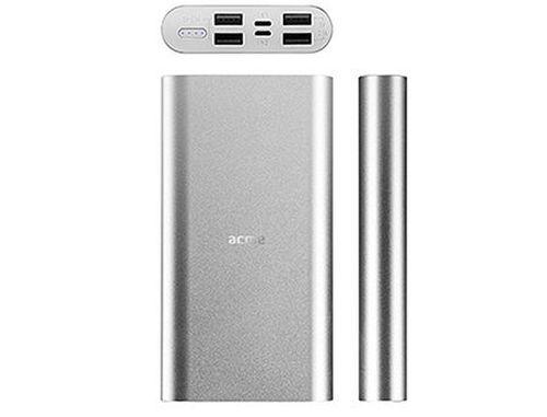 купить ACME PB16S Silver Power bank, Li-polymer 15 000 mAh (55.5 Wh), Input 1: Lightning DC 5 V/1.5 A, Input 2: Micro USB, DC 5 V/2 A (acumulator extern universal / универсальный мобильный внешний аккумулятор) www в Кишинёве