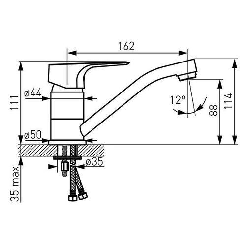 Смеситель FERRO TIGA BTG2AVL (для умывальника 15cm) (ванная комната)