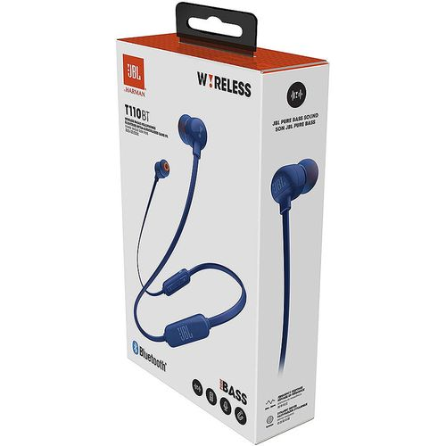 купить JBL Tune T110BT Blue Bluetooth Wireless In-Ear Headphones, 20Hz-20kHz, 16 Ohms, 96dB, Microphone, Remote, BT4.0, 120 mAh Lithium-Ion Polymer up to 6 hours, JBLT110BTBLU (casti cu microfon fara fir JBL / беспроводные наушники с микрофоном JBL) в Кишинёве