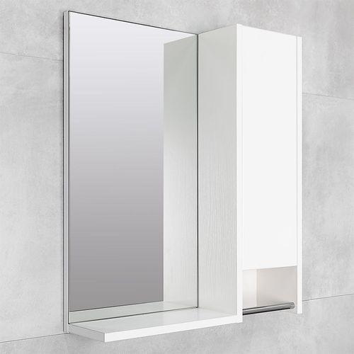 купить Selena Шкаф-зеркало белый структурный 600 R в Кишинёве