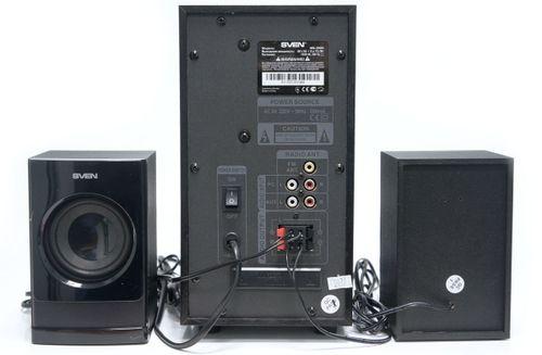 "cumpără Speakers SVEN MS-2000 Black,  2.1 / 18W + 2x11W RMS, FM-tuner, USB & SD card Input, Digital LED display, built-in clock, set the switch-off time, remote control, all wooden, (sub.5.25"" + satl.3.15"") în Chișinău"