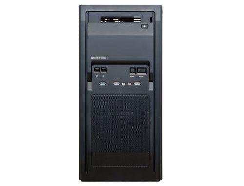 купить Case ATX Miditower Chieftec Libra LF-02B-OP Black no PSU, 2x USB 2.0, 1x USB 3.0, Mic-in, Audio-out, 1x 120mm fan (at the back), HDD rails (carcasa/корпус) в Кишинёве