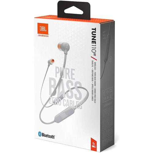 купить JBL Tune T110BT Grey Bluetooth Wireless In-Ear Headphones, 20Hz-20kHz, 16 Ohms, 96dB, Microphone, Remote, BT4.0, 120 mAh Lithium-Ion Polymer up to 6 hours, JBLT110BTGRY (casti cu microfon fara fir JBL / беспроводные наушники с микрофоном JBL) в Кишинёве