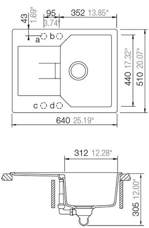 купить Мойка кухонная Schock Cristalite Manhattan D-100XS в Кишинёве