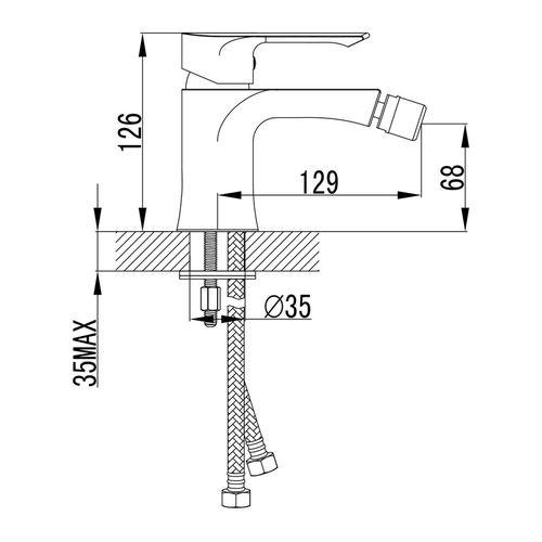 VYSKOV смеситель для биде,хром, 35 мм (ванная)