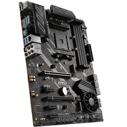 купить Материнская плата MSI X570-A PRO, Socket AM4, AMD X570, Dual 4xDDR4-4400, APU AMD graphics, HDMI, 2xPCIe4.0 X16, 6xSATA3, RAID, 2xM.2 Gen4.0 x4 slot, 3xPCIe X1, ALC1220 7.1ch HDA, GbE LAN, 8xUSB3.2 Gen1, USB3.2 Gen2(TypeA+C), ATX в Кишинёве