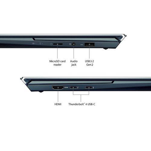 "купить Ноутбук 14"" ASUS ZenBook Duo 14 UX482EG Blue, Intel i7-1165G7 2.8-4.7Ghz/16GB/SSD 512GB M.2 NVMe/GeForce MX450 2GB/WiFi 6 802.11ax/BT5.0/HDMI/HD WebCam/Illum. Keyb./Sleeve/ Stylus Pen/ Screen Pad Plus 12.65""/14"" Touchscreen IPS LED Backlit FullHD NanoEdge (1920x1080)/Windows10 Pro UX482EG-HY055R в Кишинёве"