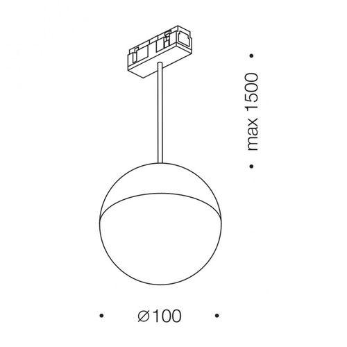 купить Светильник подвесной IN_LINE BALL M 06.1000.7.930.BK в Кишинёве