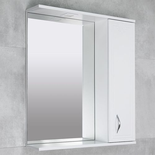 купить Deco One Шкаф-зеркало белый 750 R в Кишинёве