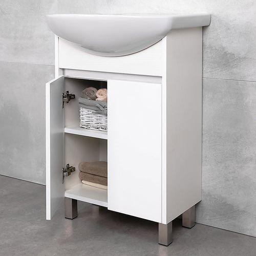 купить Elina Шкаф белый структурный с умывальником Libra 600 в Кишинёве