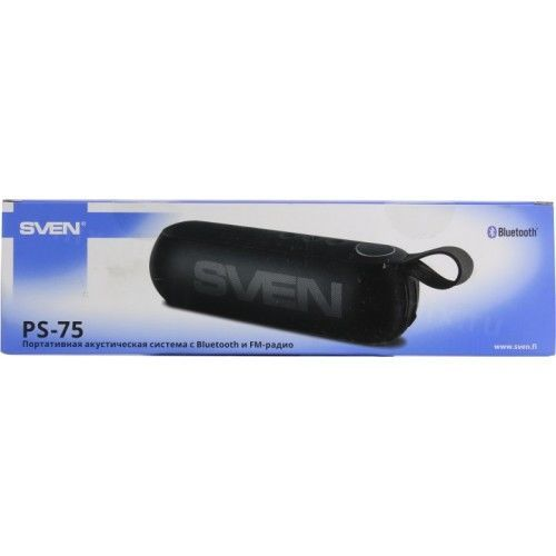 купить SVEN PS-75, Bluetooth Portable Speaker, 6W RMS, Support for iPad & smartphone, Bluetooth, FM tuner, USB & microSD, built-in lithium battery -1200 mAh, AUX stereo input, Headset mode, USB or 5V DC power supply, Black в Кишинёве