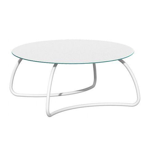 купить Стол стеклянный Nardi LOTO DINNER 170 BIANCO vern. bianco 44453.00.000 (Стол стеклянный для сада лежака террасы балкон) в Кишинёве