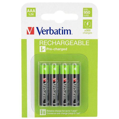 купить Verbatim AAA Rechargeable Battery  950mAh  4 Pack 49942 в Кишинёве