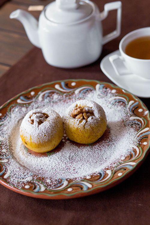 купить Яблоки печеные с медом и орехами в Кишинёве